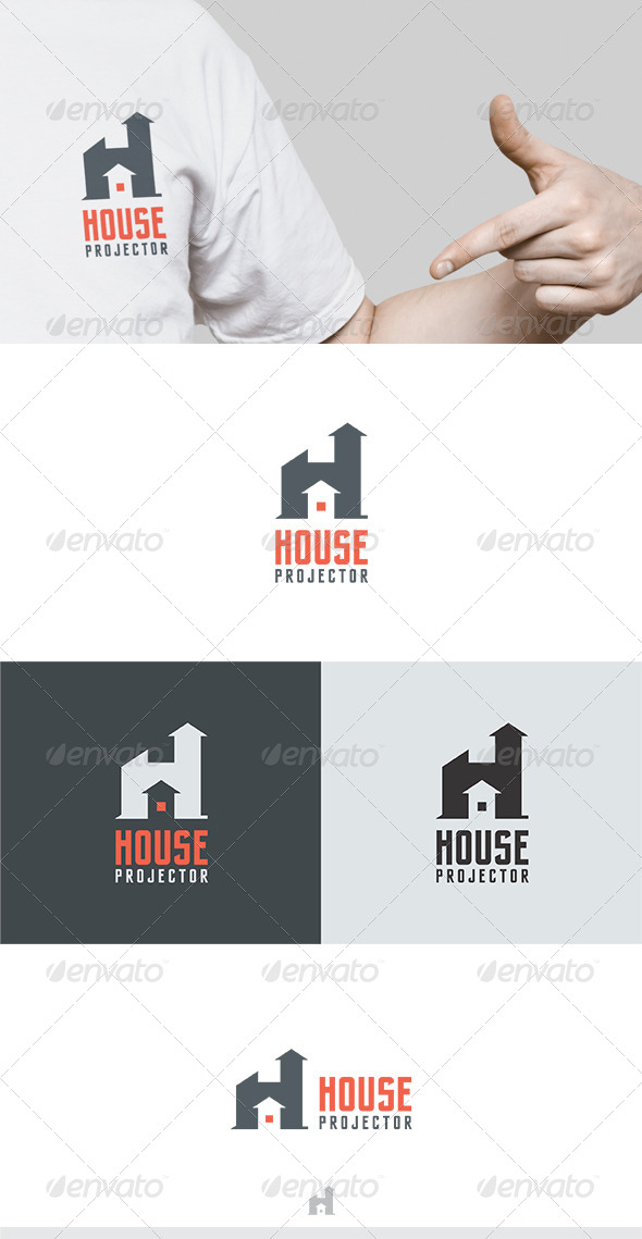 House Projector Logo - Buildings Logo Templates