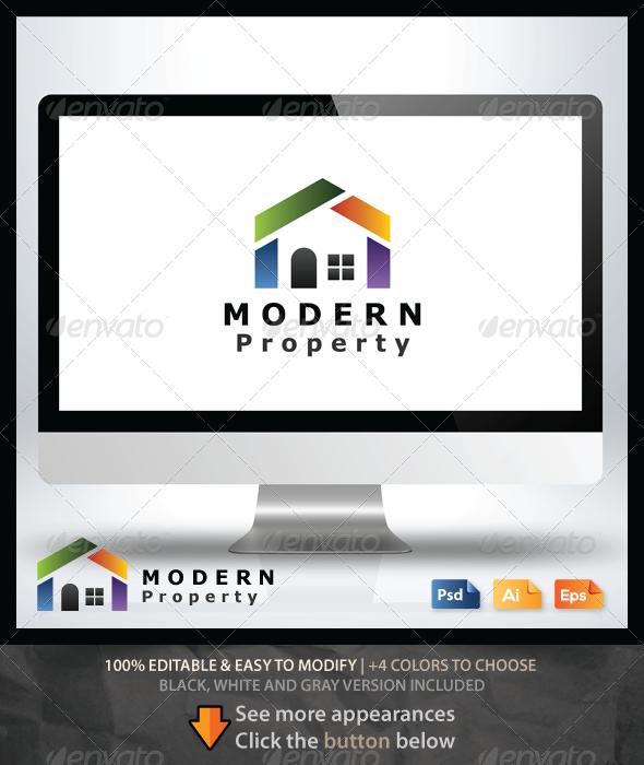 Modern Property Logo - Buildings Logo Templates