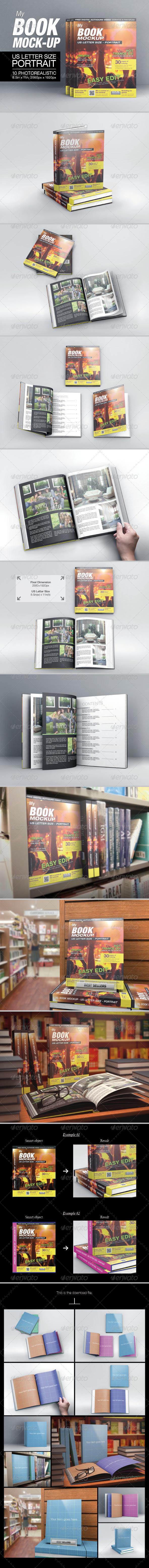 MyBook US Letter Size Mock-up - Books Print