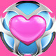3D Pink Heart Metal Spheres Vol 2 - GraphicRiver Item for Sale