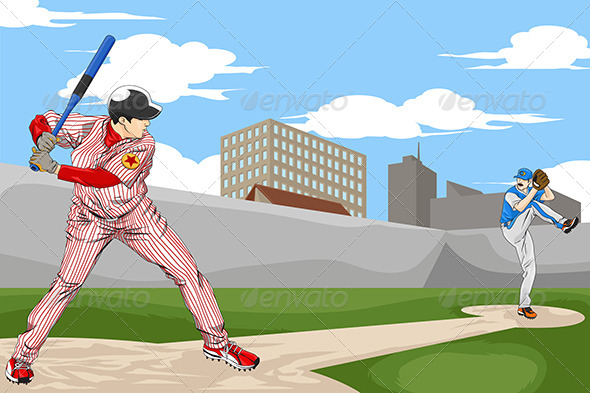 Baseball Players - Sports/Activity Conceptual