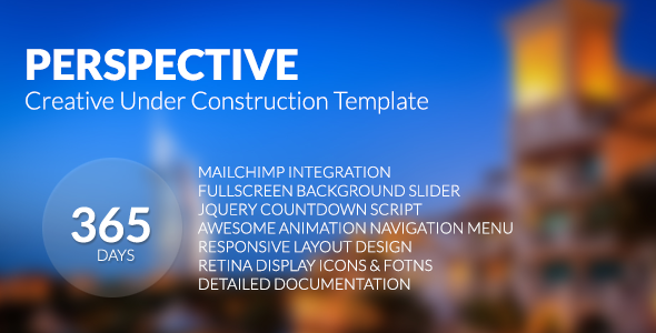 Perspective - Creative Under Construction Template