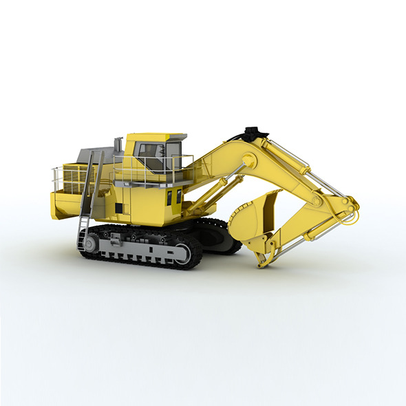 Pc-2000 Construction truck CATERPILLA - 3DOcean Item for Sale