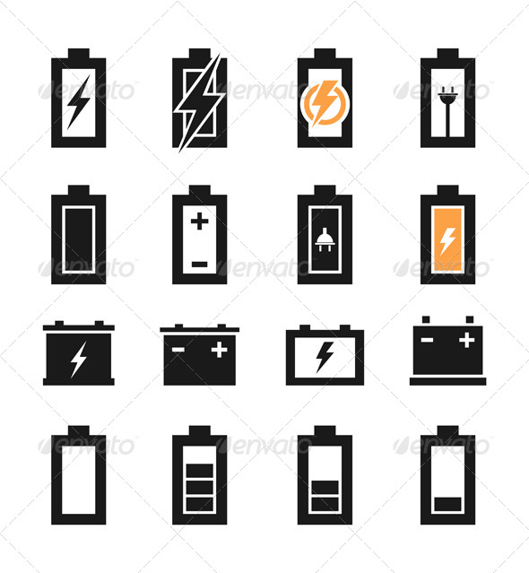 Battery Icons - Miscellaneous Vectors