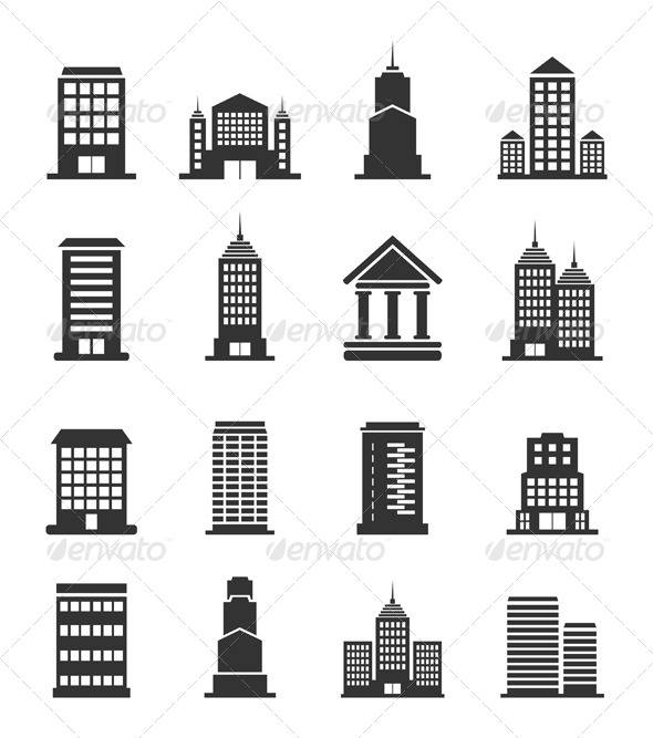 Building Office Icons - Buildings Objects