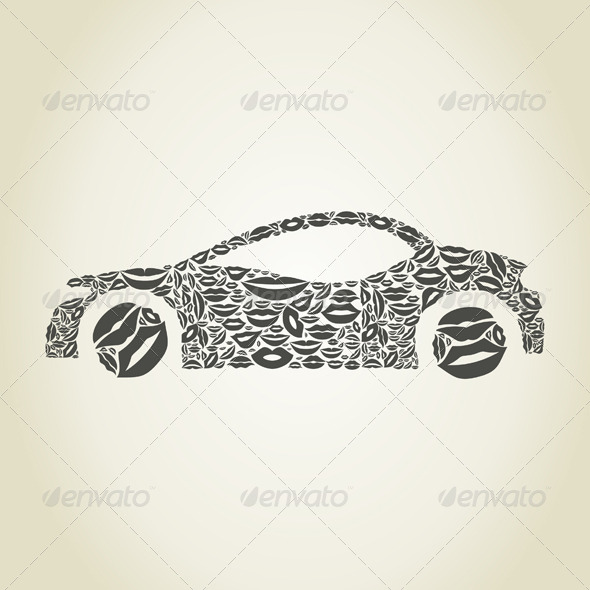 Car Made of Lips - Man-made Objects Objects