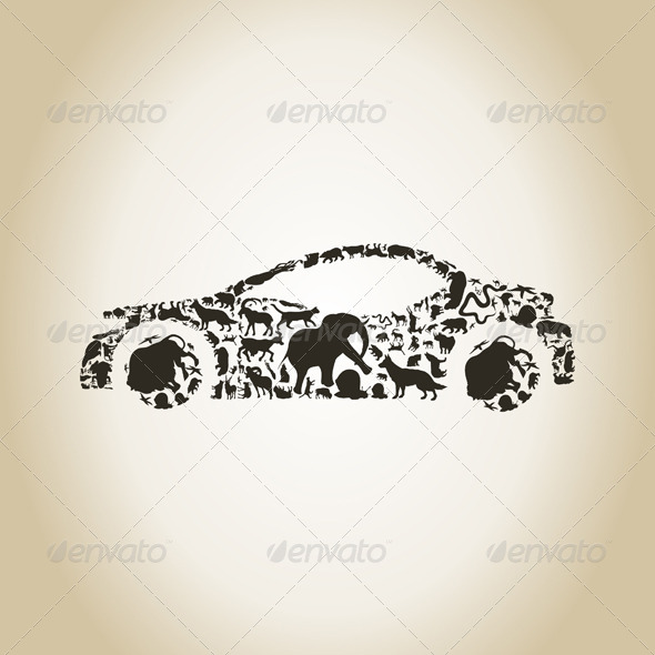 Car Made of Animals - Animals Characters