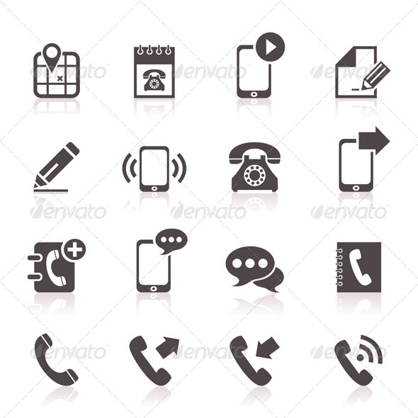 Phone Icons 5 - Communications Technology