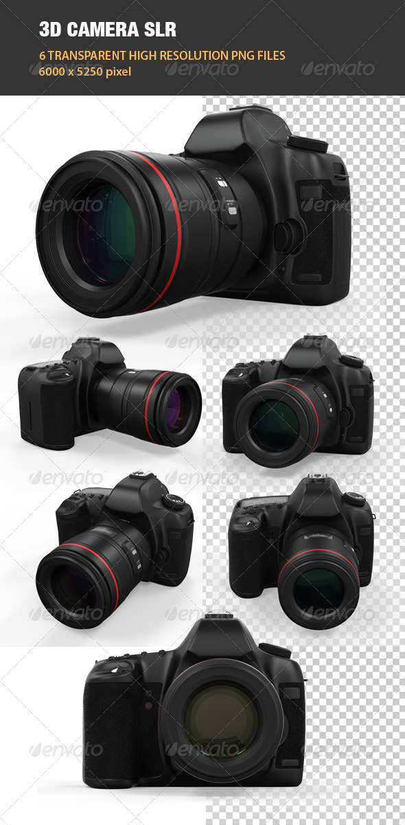 3D Camera SLR - Technology 3D Renders