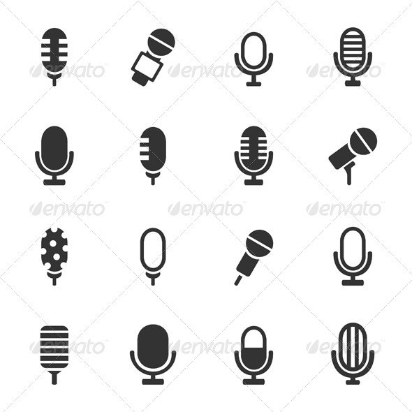 Microphone Icons - Media Technology