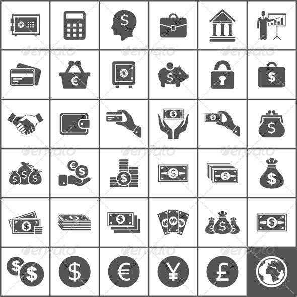 Money Icons - Miscellaneous Vectors