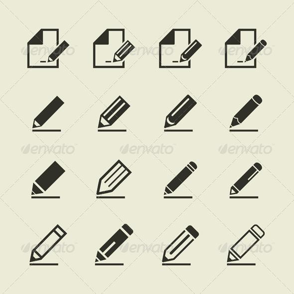 Pencil Icons - Miscellaneous Vectors