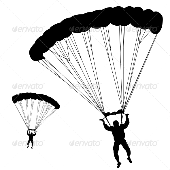 Silhouette of Jumper - Sports/Activity Conceptual
