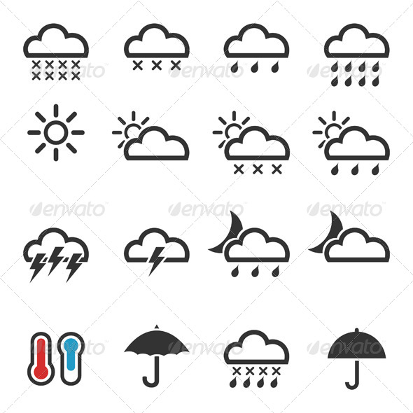 Weather Icons 4 - Seasons Nature