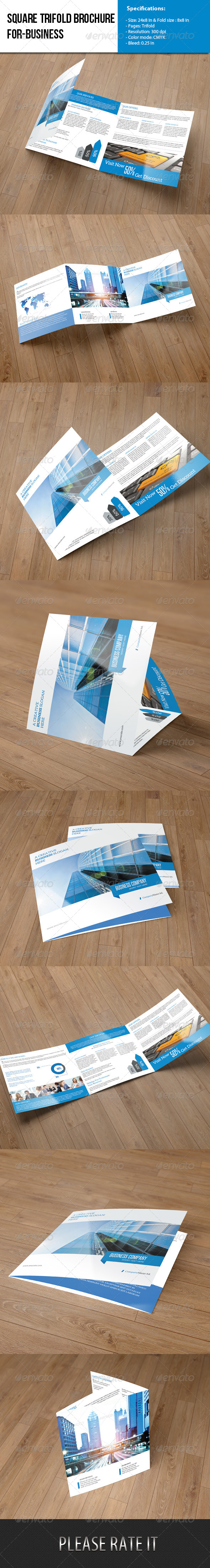 Square Trifold- Business - Corporate Brochures