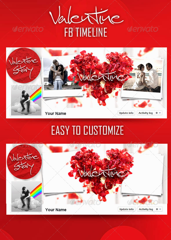 Valentine FB Timeline - Facebook Timeline Covers Social Media