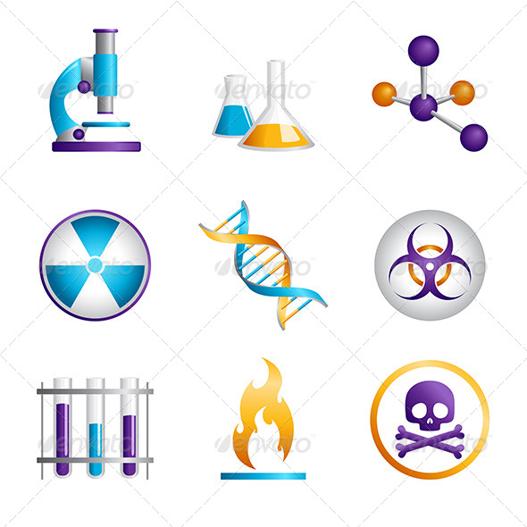 Science Icons - Objects Vectors