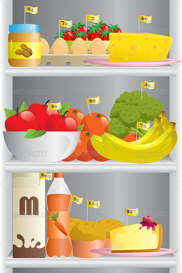 Food in Refrigerator - Food Objects