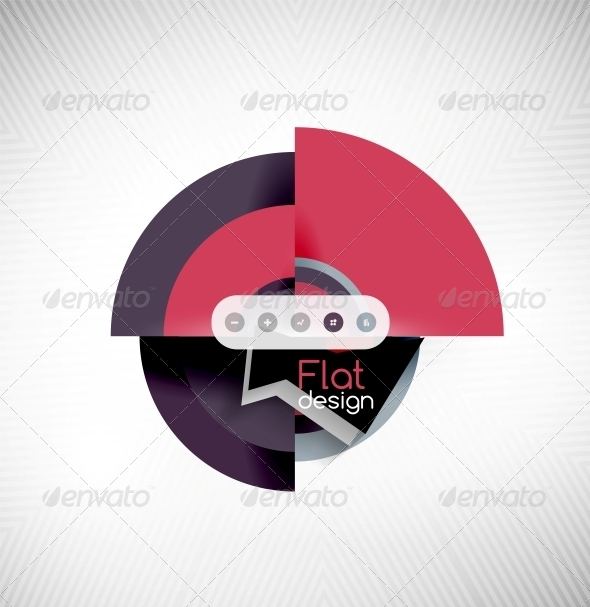 Circle Geometric Shapes Flat Interface Design - Web Technology