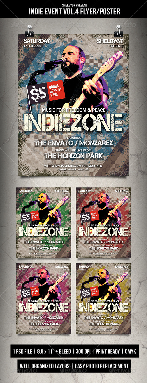 Indie Event Flyer / Poster Vol.4 - Events Flyers