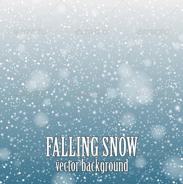 Falling Snow Blue - Seasons Nature