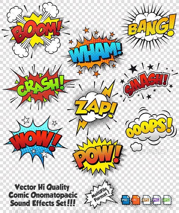 Comic Sound Effects - Miscellaneous Conceptual