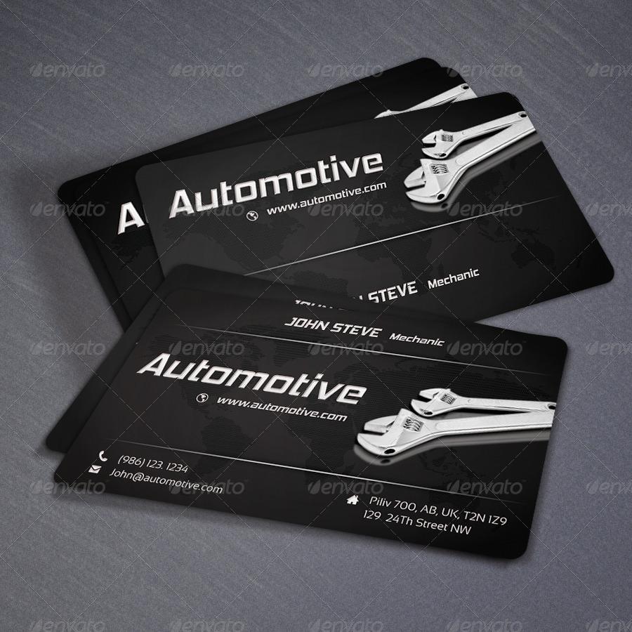 Automotive business card v3 by oksrider graphicriver automotive business card v3 colourmoves