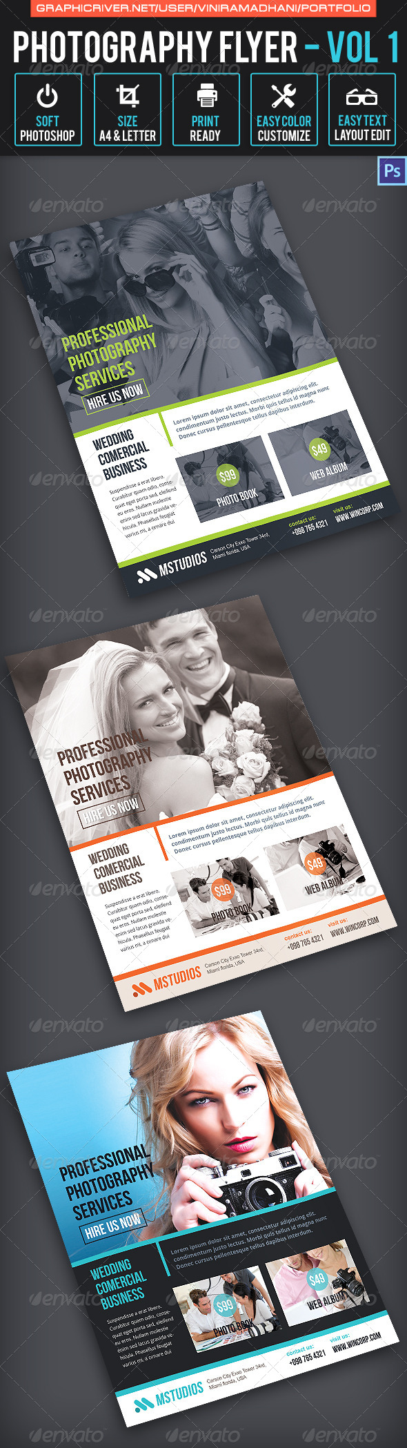 Photography Flyer   Volume 1 - Corporate Flyers