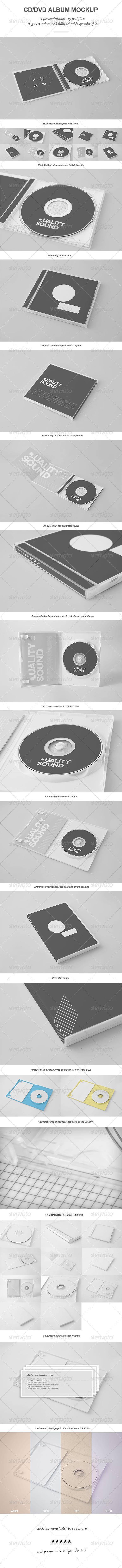 CD/DVD Album Mock-up - Discs Packaging