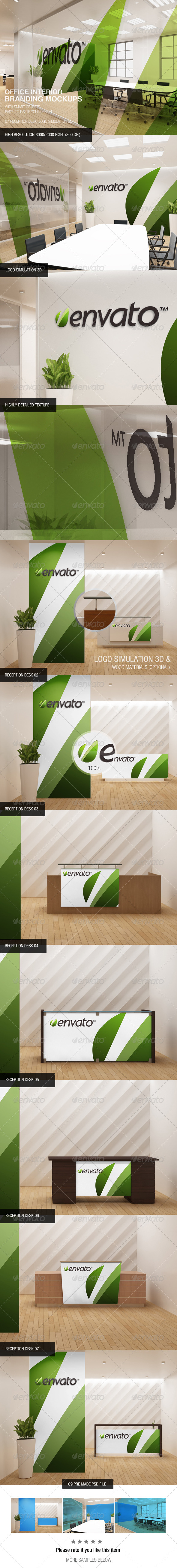 Office Interior Branding Mockups - Logo Product Mock-Ups