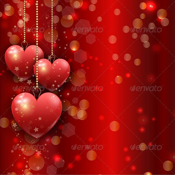 Valentines Day Heart Background - Valentines Seasons/Holidays