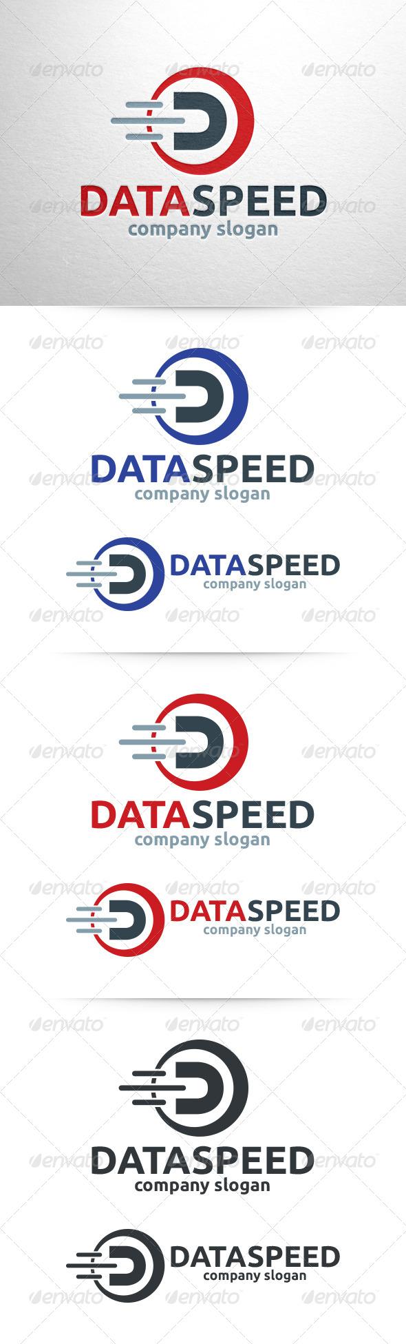 Data Speed - Letter D Logo - Letters Logo Templates
