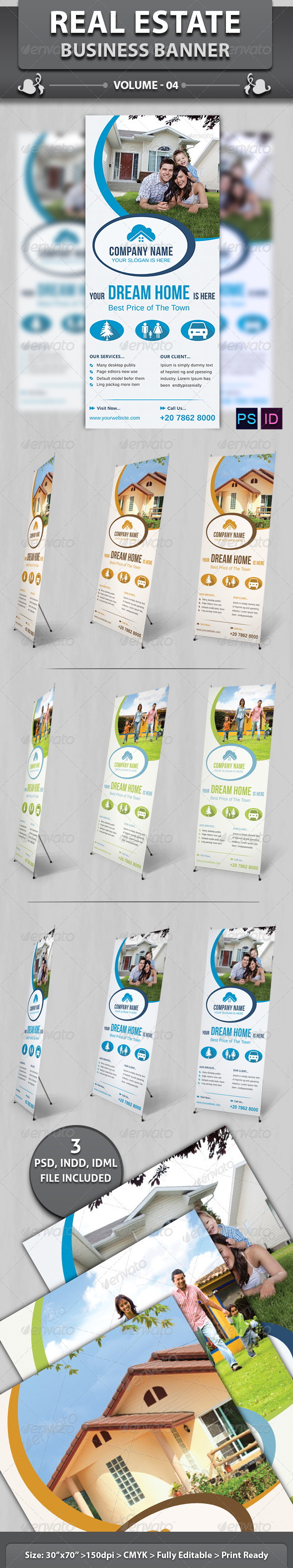 Real Estate Business Banner | Volume 4 - Signage Print Templates