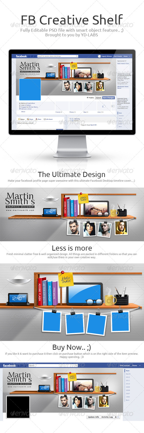 FB Creative Shelf - Facebook Timeline Covers Social Media