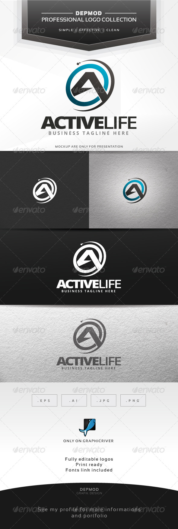 Active Life Logo - Letters Logo Templates