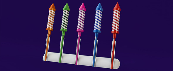 3D Firework rockets - 3DOcean Item for Sale