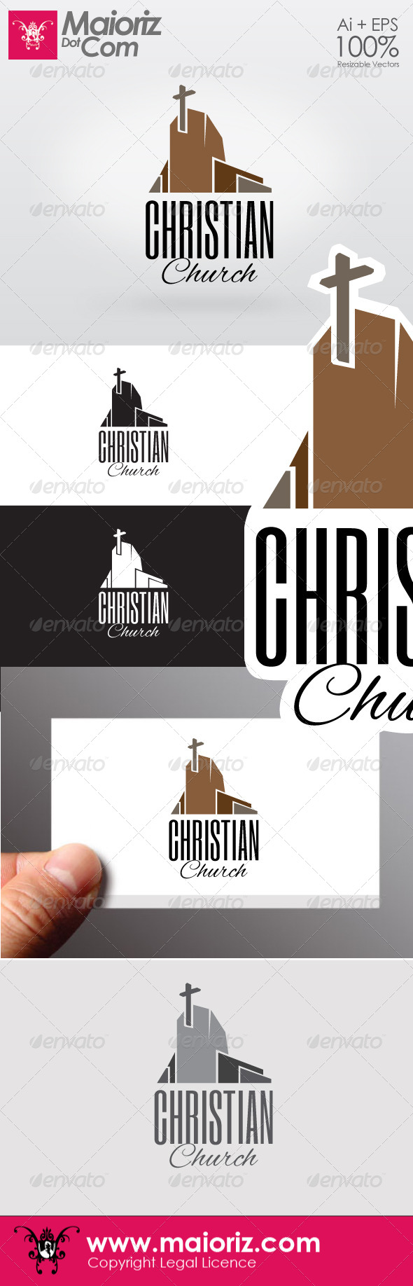 Christian Chruch Logo - Buildings Logo Templates