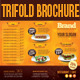 Trifold Brochure Restaurant Cafe Menu PSD Template - GraphicRiver Item for Sale