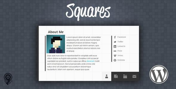 Squares - HTML5 vCard/Portfolio Wordpress Theme
