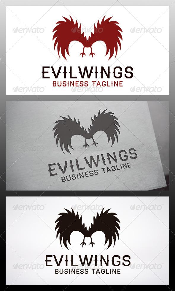 Evil Wings Logo - Symbols Logo Templates