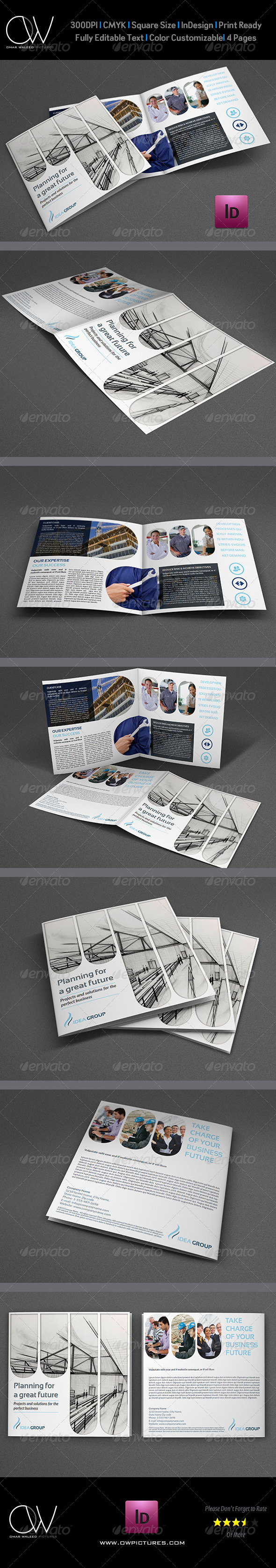 Company Brochure Bi-Fold Template Vol.15 - Corporate Brochures