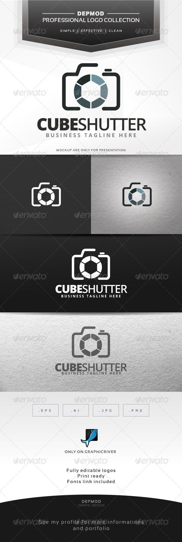 Cube Shutter Logo - Symbols Logo Templates
