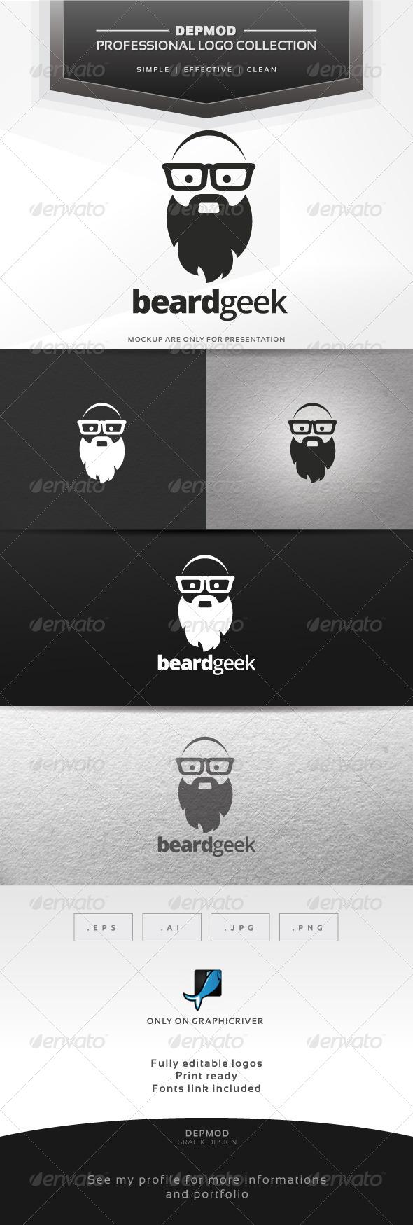 Beard Geek Logo - Humans Logo Templates