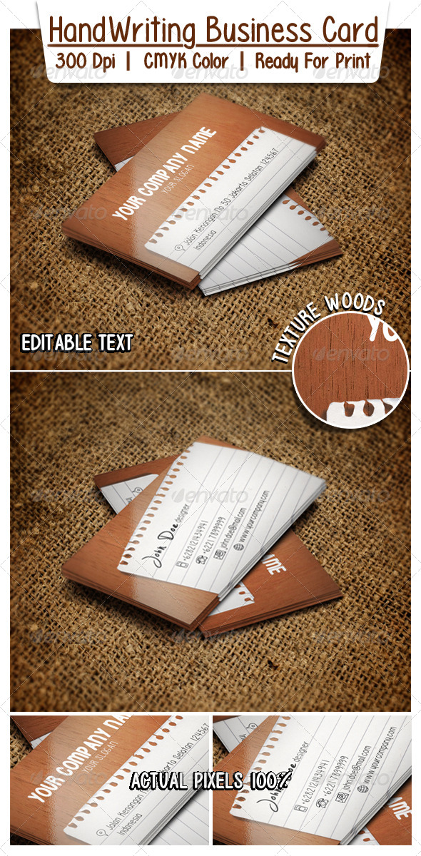 HandWriting Business Card  - Corporate Business Cards