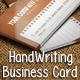 HandWriting Business Card  - GraphicRiver Item for Sale