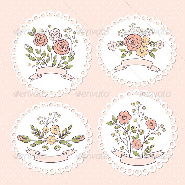 Wedding Floral Graphic Set - Decorative Symbols Decorative