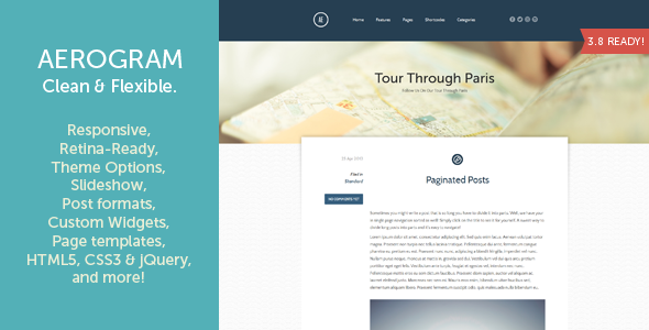 Aerogram – Responsive Retina-Ready WordPress Theme