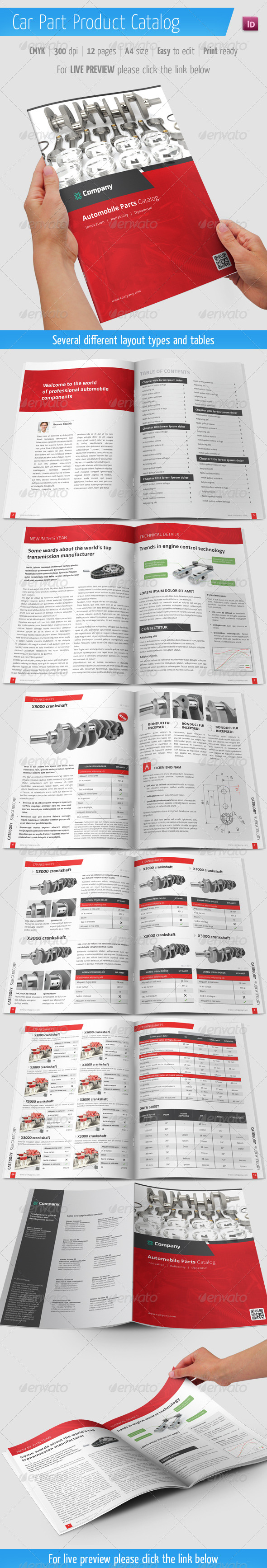 Car Part Product Catalog - Automobile Brochure - Catalogs Brochures