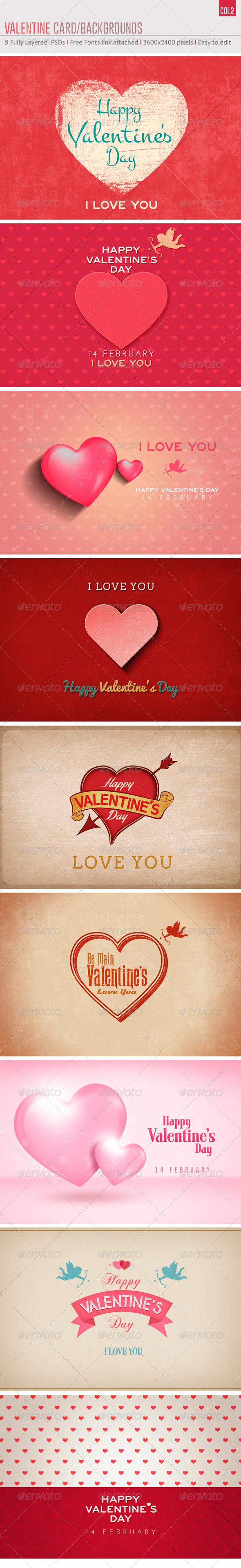 Valentine's Card/Backgrounds Col2 - Backgrounds Graphics