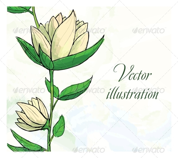 Floral Design Template - Flowers & Plants Nature